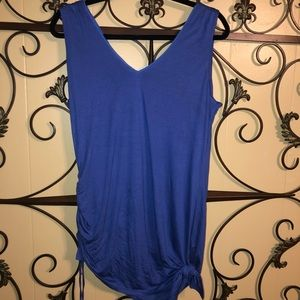 NWT White House Black Market Sz M Side Ruched Top